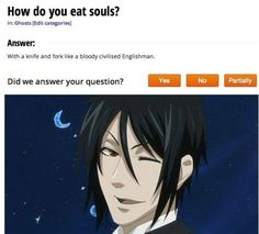 Sebastion from Black Butler # funny