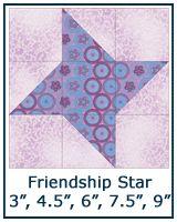 Friendship Star quilt block tutorial                                                                                                                                                                                 More