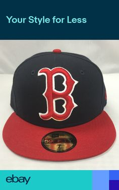 NEW ERA Boston Red Sox 59fifty GRAND LOGO MLB 100% Authentic New Era Fitted  Hats 3dc5ff47edf