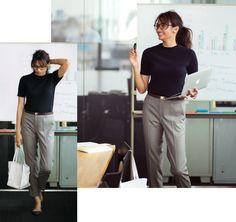 【9/26のコーデ】プロジェクトの社内プレゼン。チェックパンツできれいめコーデ、がちょうどいい! | Oggi.jp Korean Fashion, Normcore, Clothes For Women, Casual, Pants, Outfits, Korean Style, Vestidos, K Fashion