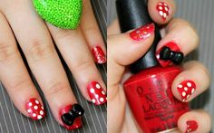Oh Disney . . . here I come with my Minnie Mouse nails!