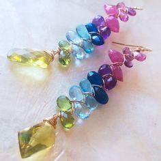 Beautiful Christmas Present! Gemstone Spectrum Earrings