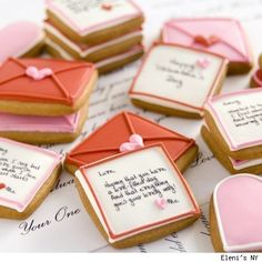 royal icing letter cookies