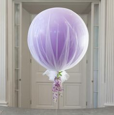 balloon and tulle Tulle Balloons, Bubblegum Balloons, Diy Party, Party Ideas, 7th Birthday, Baby Shower Decorations, Party Planning, Diy And Crafts, Bridal Shower