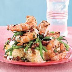 Grilled Shrimp-and-Green Bean Salad Recipe   MyRecipes.com
