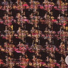 Dark Brown and Multicolor Hounstooth Wool Boucle Fabric by the Yard | Mood Fabrics