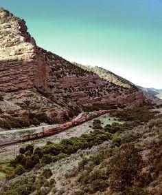 Freight Train Through Echo Canyon Utah