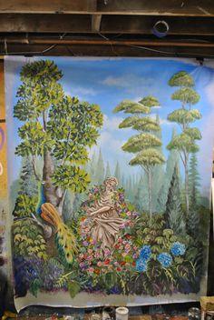 landscape tapestry mural by Arlene Mcloughlin