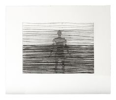 Antony Gormley Another Place, 2013 Etching on BFK Rives Naturel 280gsm paper 31 x 36.6cm