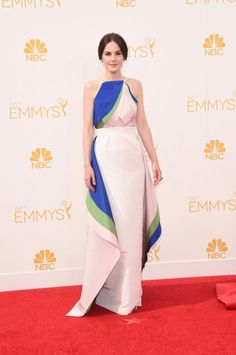 Michelle Dockery in Rosie Assoulin at the 2014 Emmys