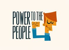 Power to the people | Royalty-free licensable illustration by Pintachan