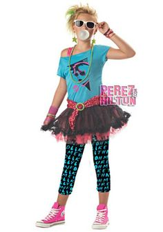 The Tween Girls Valley Girl Costume is the best 2019 Halloween costume for you to get! Everyone will love this Girls costume that you picked up from Wholesale Halloween Costumes! Costume Punk, 80s Halloween Costumes, Star Costume, Retro Costume, Costume Dress, 80s Girl Costume, Girl Halloween, Eighties Costume, Rock Costume