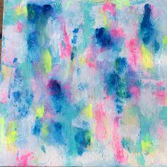 Abstract Art on Canvas - Turquoise Dream - www.kokovanilladesigns.com.au