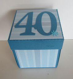 Geburtstagsset zum 40. Geburtstag       Eine Explosionsbox für einen Gutschein            und eine Erste Hilfe - Box  für 40 - Jährige ;-)...
