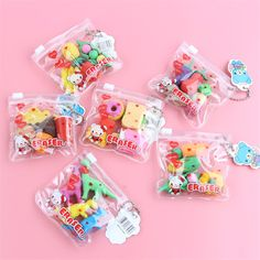 School Accessories, Kawaii Accessories, Little Girl Toys, Toys For Girls, Cool Erasers, Cool School Supplies, Diy Back To School, Cute Stationary, Mini Things