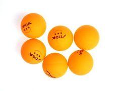 Stiga 3-Star Orange Table Tennis Balls, 6-Pack