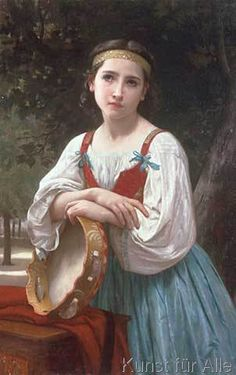 William-Adolphe Bouguereau - Bohémienne au Tambour de Basque