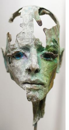 'We are all Gods' portrait head sculpture in bronze, by philip wakeham https://www.facebook.com/PhilipWakehamSculptor