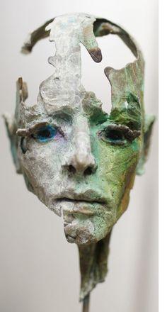 'We are all Gods' portrait head sculpture in bronze, by philip wakeham https://www.facebook.com/PhilipWakehamSculptor