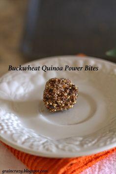 Grain Crazy: Yummy Buckwheat Quinoa Power Bites (gluten free & raw)