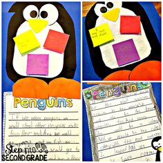 Students focus on penguins during the winter month!
