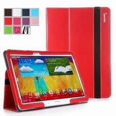Amazon.com : Poetic Slimbook Case for Samsung Galaxy Note 10.1 2014 Edition Tablet Red (3 Year Manufacturer Warranty From Poetic) : Touch Sc...