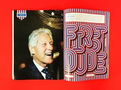 """Really fun type on this """"First Dude"""" opener in the newest @gq Design Director…"""