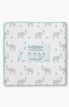 Swaddle Designs 'Elephant & Chickies' Blanket available at #Nordstrom