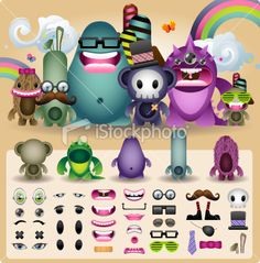 """""""build a monster"""" package from istockphoto - such a cute idea"""