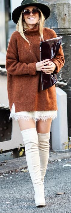 Fall Ready / Fashion By Lene Orvik Ugly Dresses, Slip Dresses, Looks Style, My Style, Love Fashion, Fashion Outfits, Look Formal, Fall Sweaters, Autumn Winter Fashion