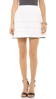 english rose Embossed Mini Skirt