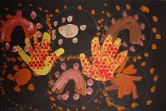 ArtMuse67: Kindergarten Aboriginal Dot Paintings