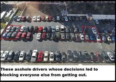 These asshole drivers whose decisions led to blocking everyone else from getting out. 19 Assholes Who Completely Owned Being An Asshole Driving Humor, O Drama, Funny Memes, Jokes, Lets Play, Everyone Else, Best Funny Pictures, Funny Pics, Getting Out