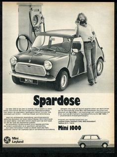 1977 Austin Mini 1000 Car Photo Vintage German Print Ad | eBay