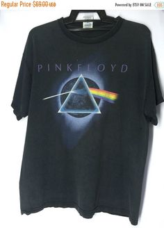 f990b629 Vintage 90's Pink Floyd Mens Shirt Large Pink Floyd English Rock Band T  Shirt Size L