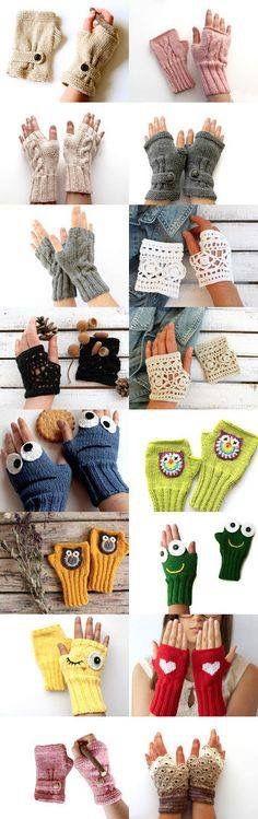 Knitting Patterns Gloves Beautiful New Ideas Crochet Gloves Pattern, Crochet Mittens, Knitted Gloves, Crochet Stitches, Knit Crochet, Crochet Hats, Knitting Patterns Free, Baby Knitting, Vetements Clothing