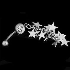 Пирсинг для пупка Звезды