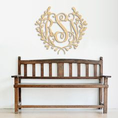 Wood Monogram Wall Decor wooden monogram with border-monogram wall hanging-wedding monogram