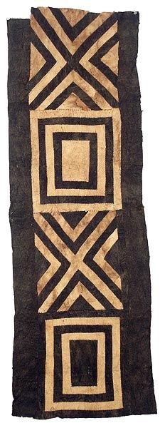 Kuba, Bark cloth, Democratic Republic of Congo Interesting patch idea with same repeated Ethnic Patterns, Textile Patterns, Textile Design, Japanese Patterns, Floral Patterns, African Patterns, African Textiles, African Fabric, Afrique Art