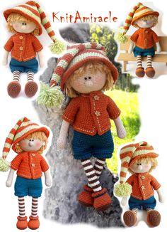 Crochet amigurumi doll pattern - Martin the House Elf #crochet #amigurumi #crochettoys #amigurumidolls