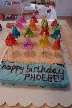 Beach Birthday, Beach Birthday cake, dessert, summer birthday cake, winter birthday, ideas, sand