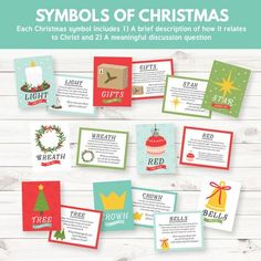 """""""Symbols of Christmas"""" Activity- Jesus Christ is the Light and the Life of the World (Primary Sharing Time - December Week Ward Christmas Party, Christmas Jesus, Christmas Ideas, Christmas Girls, Red Christmas, Activity Day Girls, Activity Days, Notes To Parents, Christmas Activities"""