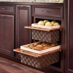 Rev-A-Shelf 18 Pullout Woven Basket with Maple Frame New Kitchen Cabinets, Base Cabinets, Kitchen Pantry, Kitchen Board, Island Kitchen, Storage Cabinets, Kitchen Countertops, Kitchen Organization, Kitchen Storage