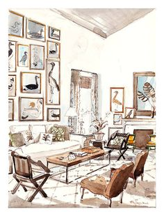 Interior Design Sketches Living Room plan & prep | sketches, living rooms and room