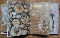 Collage artist book..