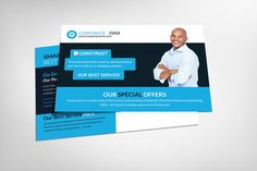 Business Postcard Psd Template by Business Templates on Creative Market