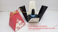 Ann's Happy Stampers: Cute little fold over Treat Box