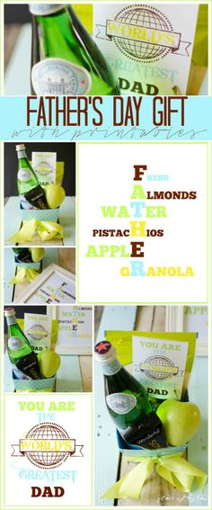 healthy fathers day gift basket with printables wwwplaceofmytastecom fathers day gift basket