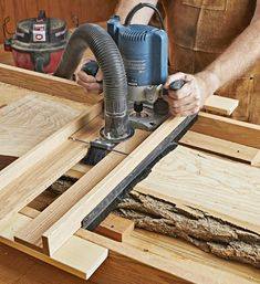 Woodworking Jigs Flattening Sled Plan from WOOD Magazine - Create flat faces on natural-edge slabs or boards too wide for your jointer or planer by using this fixture with a plunge router. Dust-collection accessories capture most of the debris. Router Woodworking, Woodworking Workshop, Woodworking Techniques, Woodworking Videos, Woodworking Furniture, Fine Woodworking, Woodworking Projects, Router Projects, Woodworking Quotes