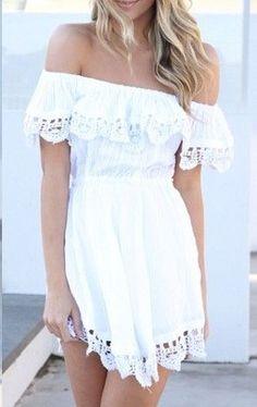 Spanish Dress - White - Dresses by Sabo Skirt Cute Dresses, Cute Outfits, Summer Dresses, Girly Outfits, Amazing Dresses, Summer Clothes, Summer Outfits, Dresses Dresses, Beach Dresses